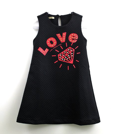 Vestido 1+1 ID Love Malha Matelassê Preto