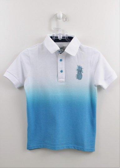 Camisa Polo 1+1 Abacaxi Tie Die em Malha Piquet