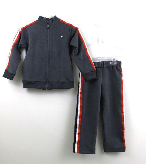 Conjunto Moletom 1+1 Baby Style Colegial Jaqueta com Calça