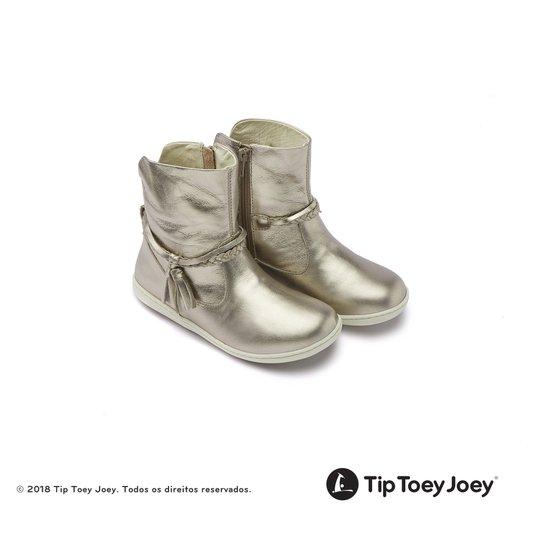 Bota Toddler Little Fairy Gold Sparkle Tip Toey Joey