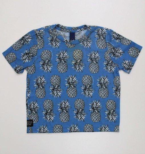Camiseta 1+1 Baby Estampa Abacaxis Malha com Elastano