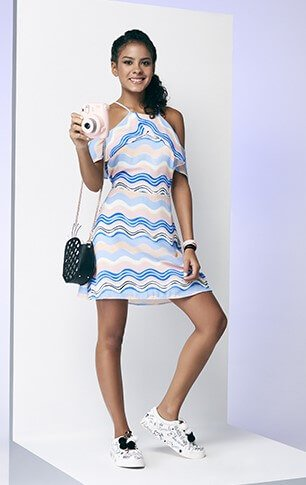 Vestido Authoria Seda Wave Stripes