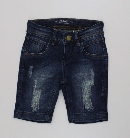 Bermuda Jeans Noak Menino com Puidos