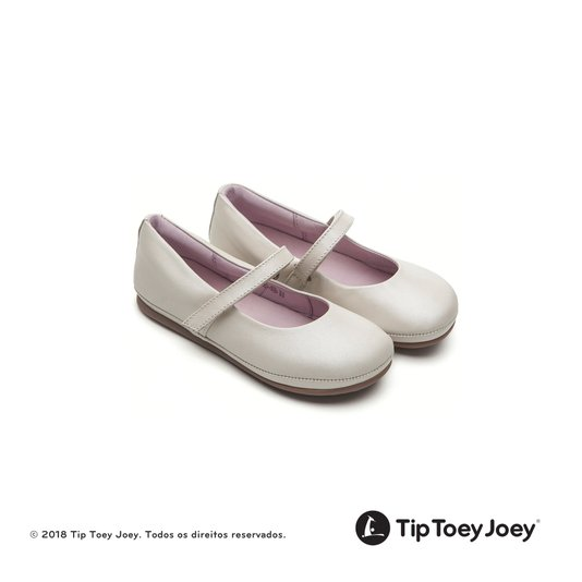 Sapatilha Toddler Little Twirl Antique White Tip Toey Joey