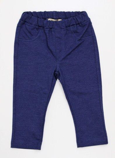 Calça 1+1 Malha Padronagem tipo Jeans