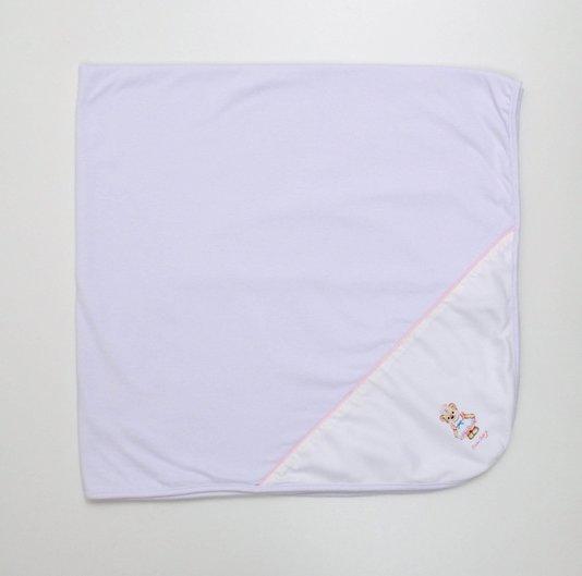 Manta Malha Dupla Branca Divino Bebê Marinheira 90 x 90