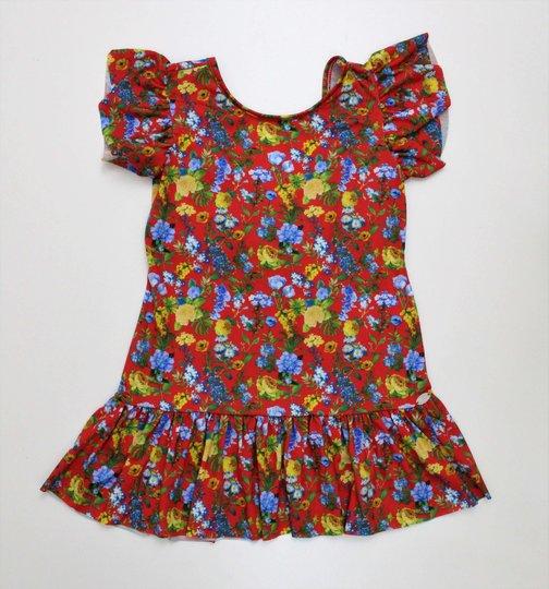 Vestido 1+1 Baby Malha Floral Leve Decote Costas com Laço