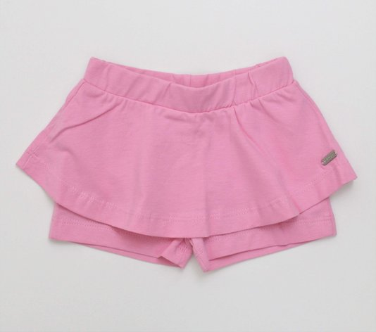 Shorts Saia Noruega Baby Cotton Lux Placa