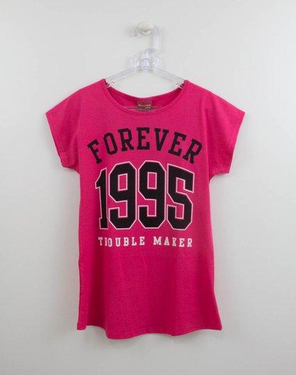 Blusa Amora Forever Alongada Rosa Carmim