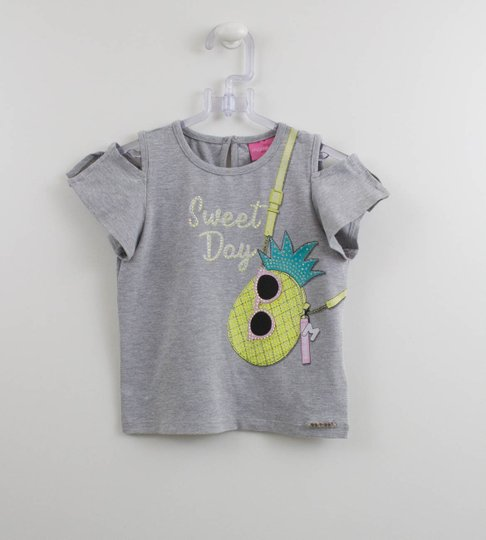 Blusa Arte Abacaxi Sweet Day Momi Mini