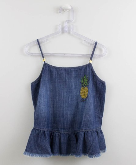 Blusa Jeans Abacaxi Colcci Fun Menina
