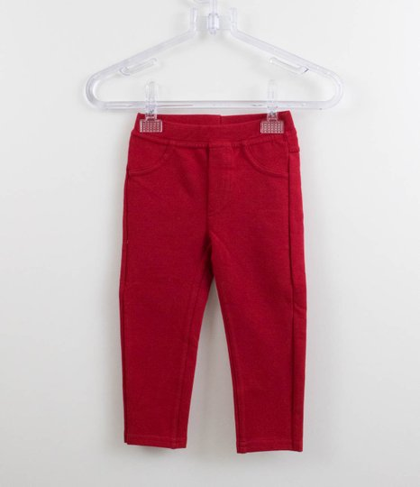 Calça Montaria Vermelha Momi Mini