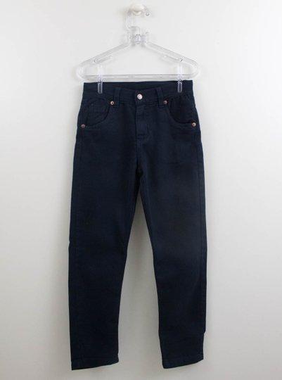 Calça Um mais Um Menino Jeans Marinho