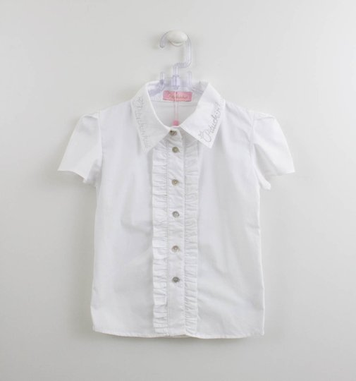 Camisa Branca Tricoline Babadinhos Pituchinhus