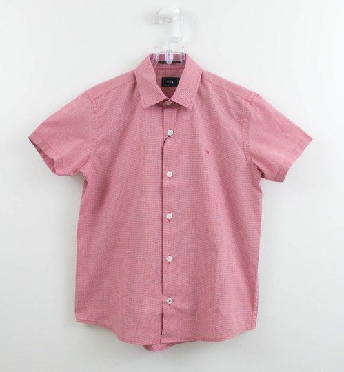 Camisa Manga Curta VRK Xadrez Mini Vermelho