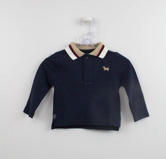 Camisa Polo Marinho Gola Listras Um mais Um Baby