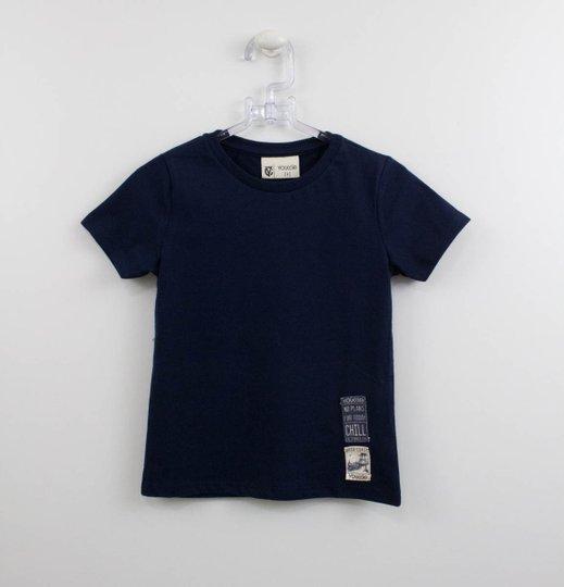 Camiseta Azul Marinho Infantil Youccie com Patchs