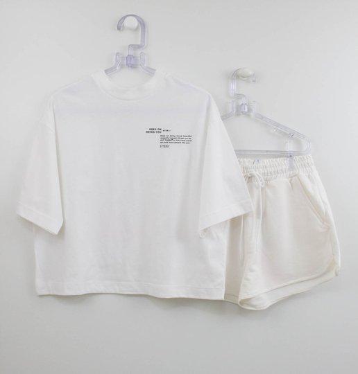 Camiseta e Short para Tie Dye Authoria Off White