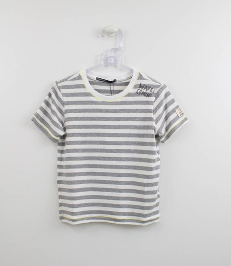 Camiseta Infantil Youccie Listrada com Silk