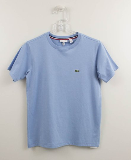 Camiseta Lacoste Básica Azul Claro Manga Curta
