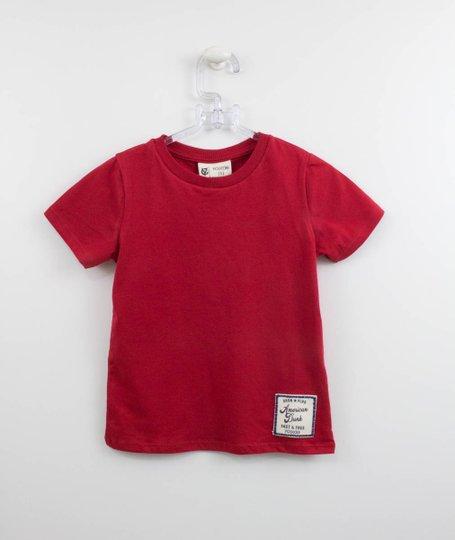 Camiseta Vermelha Infantil Youccie Patch