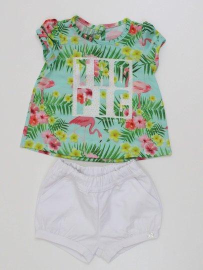 Conjunto 1+1 Baby Easy Bata Tropic com Short