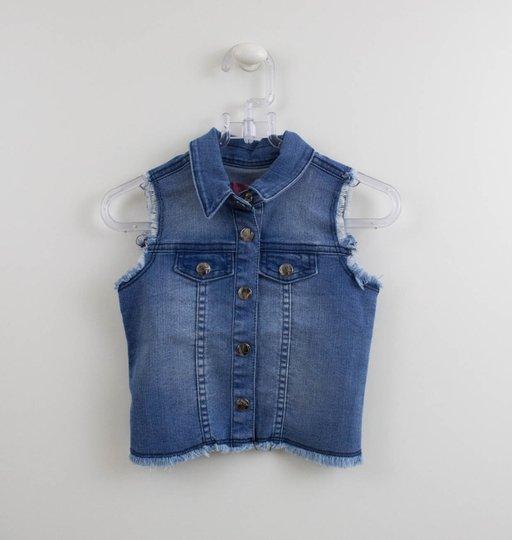 Colete Jeans com Patch Joaninhas Momi Mini
