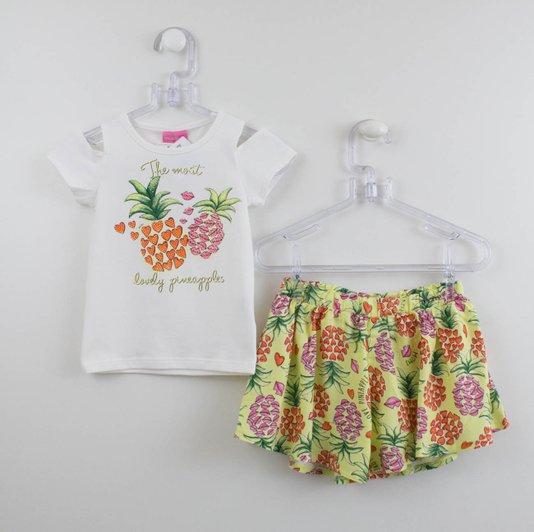 Conjunto Momi Lovely Pineapples Blusa e Short