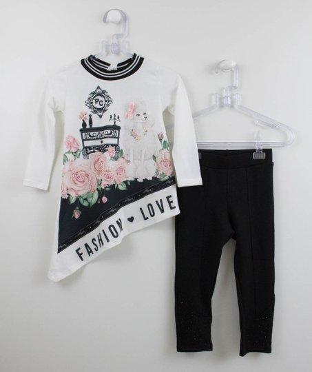 Conjunto Petit Cherie Fashion Love Blusa e Calça Preta