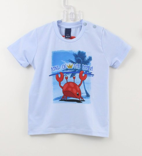 Camiseta 1+1 King f The Beach Azul Claro