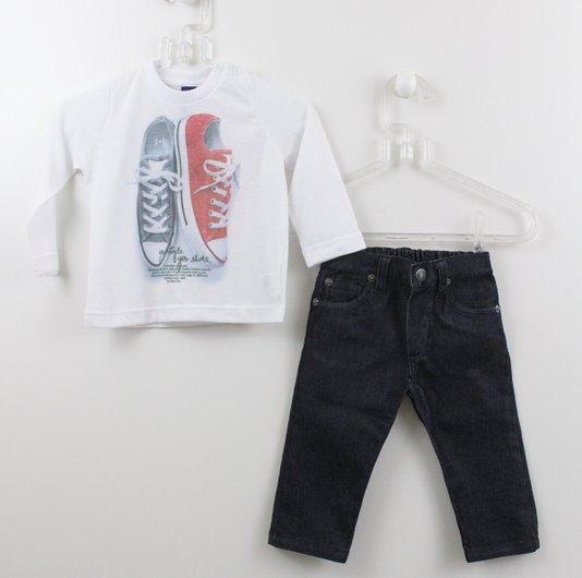 Conjunto Camiseta Tênis com Calça 1+1 Baby Style