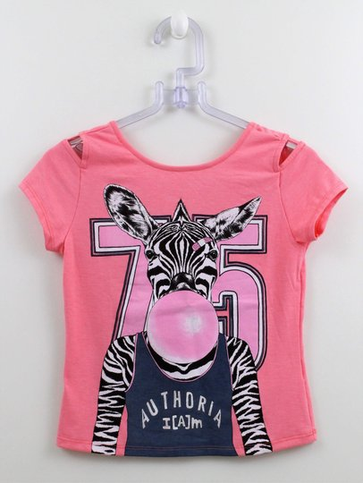 Blusa I am Authoria Aberturas Silk Zebra Chicle