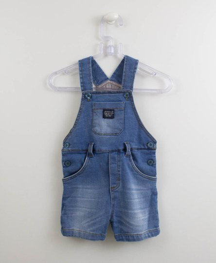 Jardineira Jeans Delave 1mais1 Baby