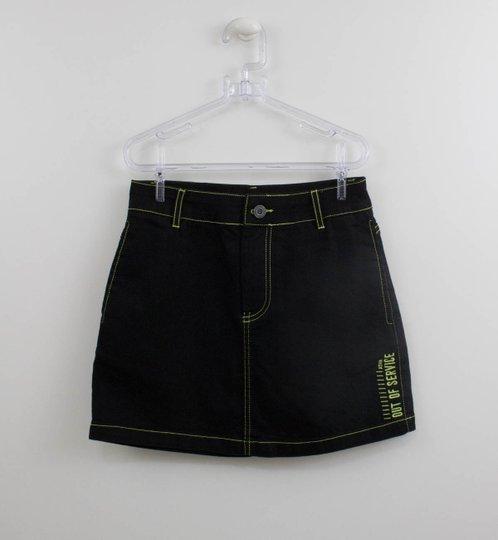 Saia Black Jeans Contrastes Neon Authoria