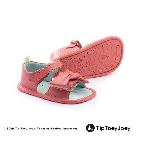 Sandália Baby Swirly Coral Matte Tip Toey Joey