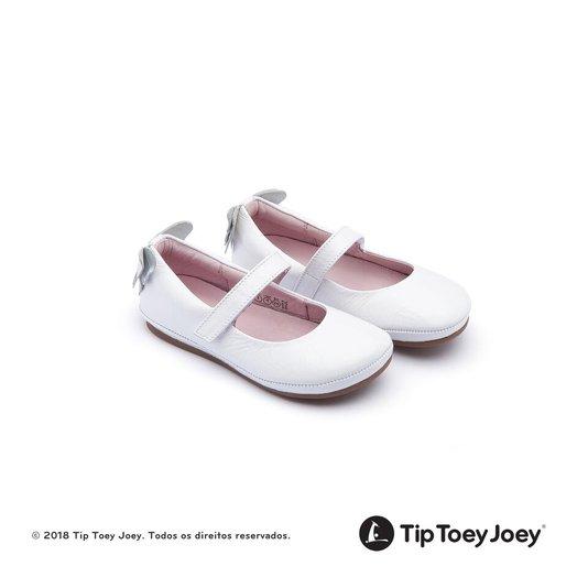 Sapatilha Branca Little Azure Borboleta Tip Toey Joey