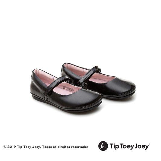 Sapatilha Little Twirl Patent Black Tip Toey Joey