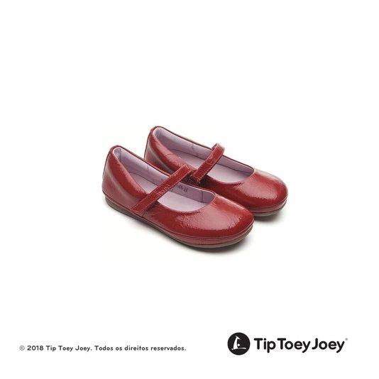 Sapatilha Little Twirl Tip Toey Joey Vermelha Verniz