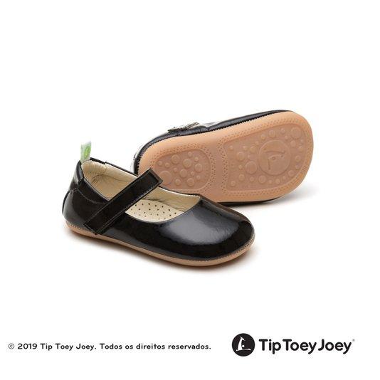 Sapatilha Tip Toey Joey Bebê Dolly Patent Black Tip Toey Joey