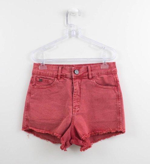 Shorts Authoria Feminino Vermelho Cintura Alta