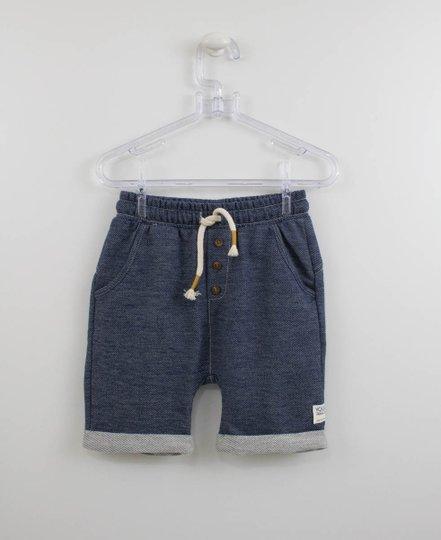 Shorts Moletom Jeans Infantil Youccie