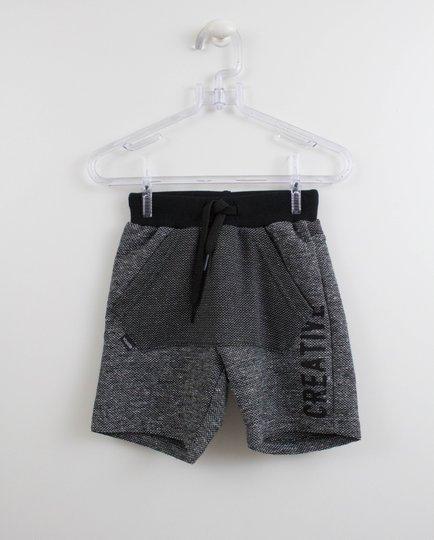 Shorts Moletom Preto Ecodenin Youccie
