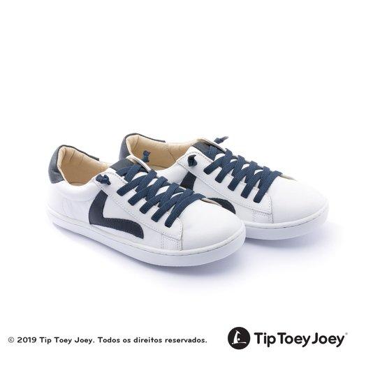 Tenis Junior Skid White Navy Tip Toey Joey