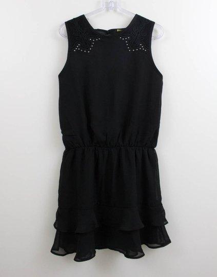 Vestido Amora Crepe Seda com Renda e Tachas