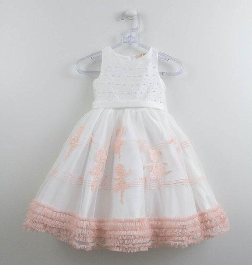 Vestido Branco Festa Petit Cherie Bordado Bailarina