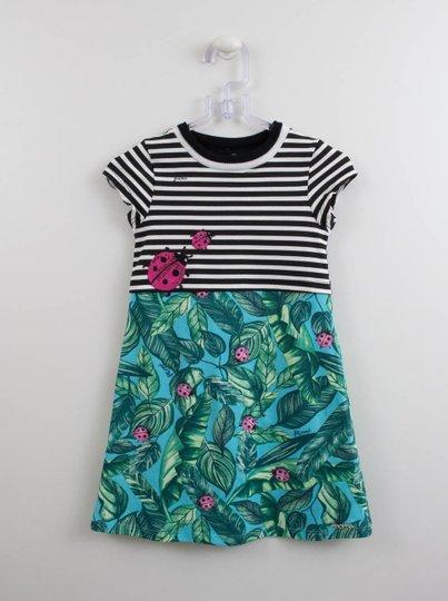 Vestido Cotton Momi Mini Listras e Joaninhas