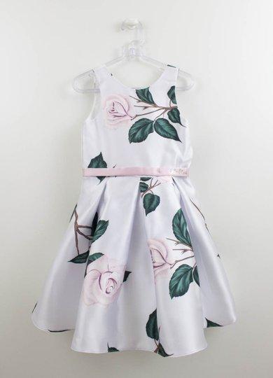 Vestido Lilás Estampa Rosas Petit Cherie