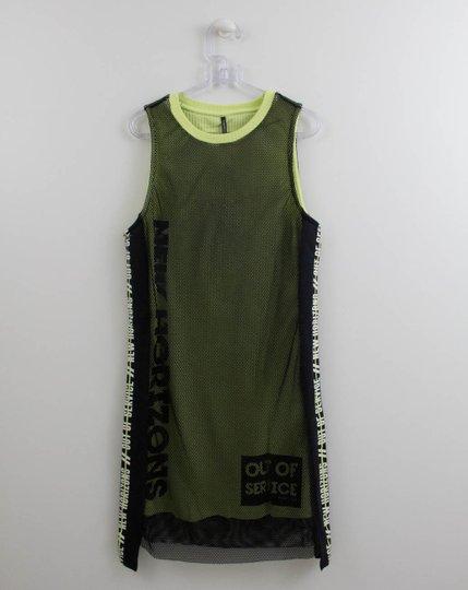 Vestido Malha Tela Detalhe Neon Authoria