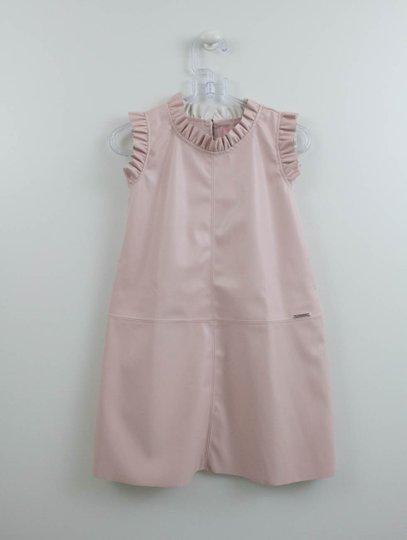 Vestido Pituchinhus Rose Courino Babadinhos
