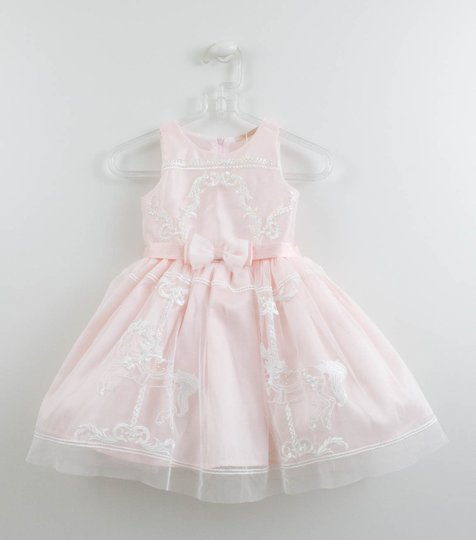 Vestido Rosa Carroussel Festa Petit Cherie